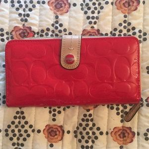 Coach wallet red